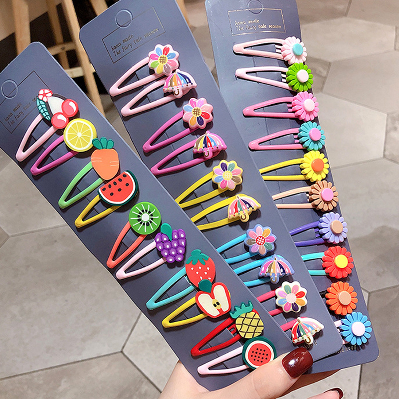 Multi-style Hair Clips Barrettes For Children Girls Colorful Cute Hairgrips Kids Hair Accessories Headband Headwear Hairclips
