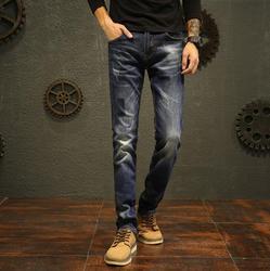 جينز رجالي بناطيل طويلة مستقيمة موديل ربيع 2020 مصمم على الموضة