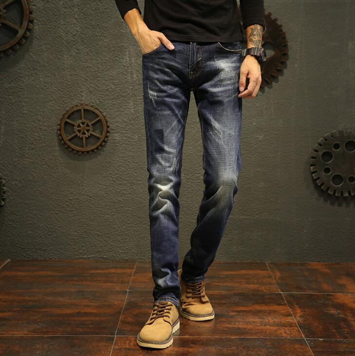 2020 Spring Brand Fashion Designer Jeans Men Straight Long Pants