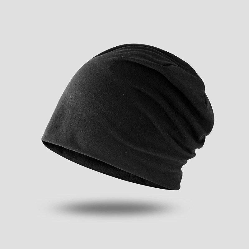 2020 New Elastic Cotton Turban Hat Solid Color Man Warm Winter Headscarf Bonnet Inner Hijabs Cap Muslim Hijab Femme Wrap Head