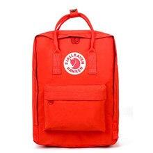 Original mochilas mochila mini clássico mochila feminina masculina moda à prova dwaterproof água saco de escola com logotipo raposa 2019