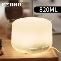 FUNHO 820ML Large capacity Ultrasonic Air Humidifier Essential Oil Diffuser Aromatherapy Cool Mist Maker LED Light For Home|Humidifiers| |  -