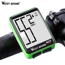 WEST BIKING Wireless Bike Computer Large Digital Speedometer Odometer Rainproof Bicycle Accessories Backlight Cycling Stopwatch стоимость