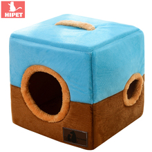 Creative Dog House Cat Cave Bed Pet Nest For Small Medium Dogs Cats Foldable Soft Warm Portable Winter