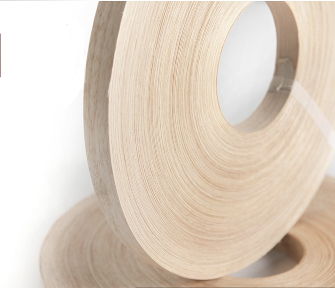 200meters/roller Width:20mm Thickness:0.5mm Natural Rubber Wood Edge Sealing Strip Wood Veneer