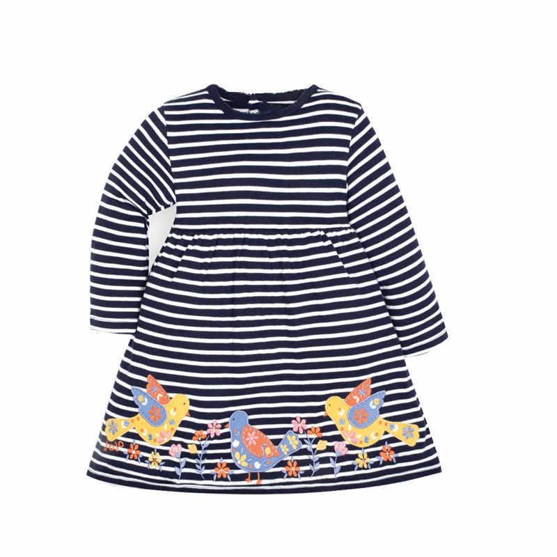 Детские платья с аппликацией в виде прыжков для девочек; милые хлопковые вечерние платья-пачки с изображением лисы для девочек; Детские платья