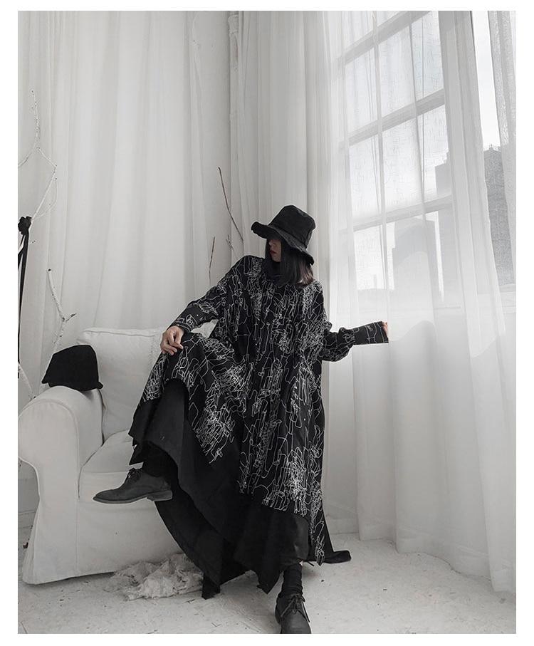 New Fashion Style Long Sleeve Irregular Lines Printed Plus Size Blouse Shirt Fashion Nova Clothing