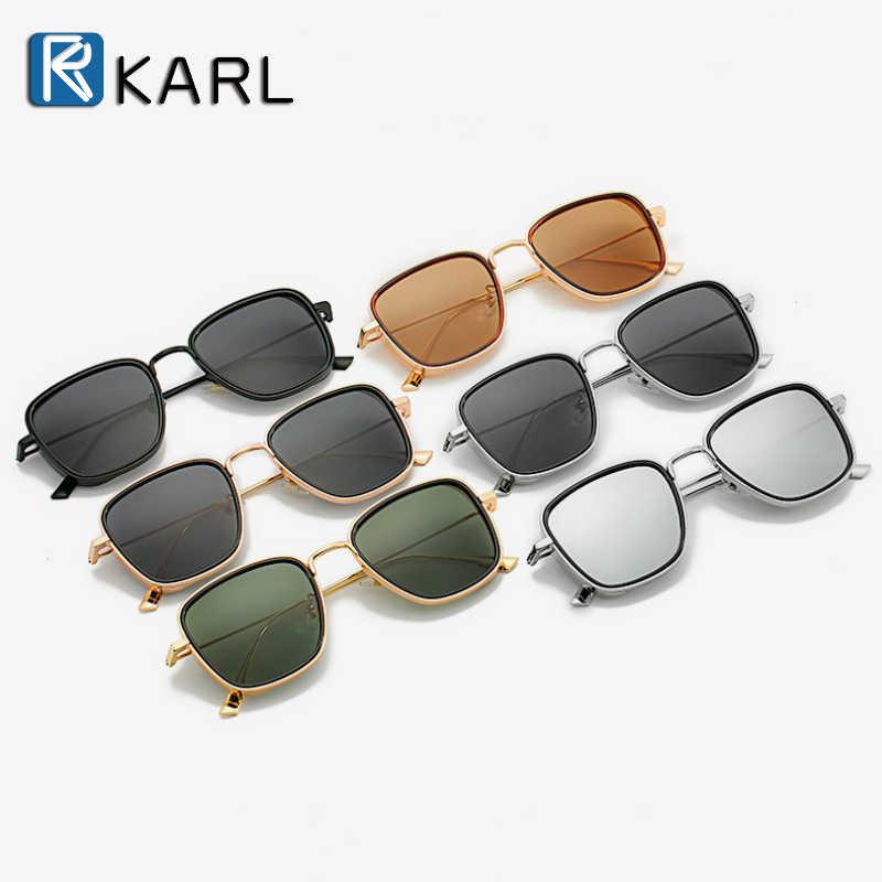 Kwadratowe okulary przeciwsłoneczne retro mężczyźni Tony Stark okulary przeciwsłoneczne luksusowy gatunku projektanta Steampunk okulary przeciwsłoneczne czerwone czarne okulary przeciwsłoneczne damskie UV400