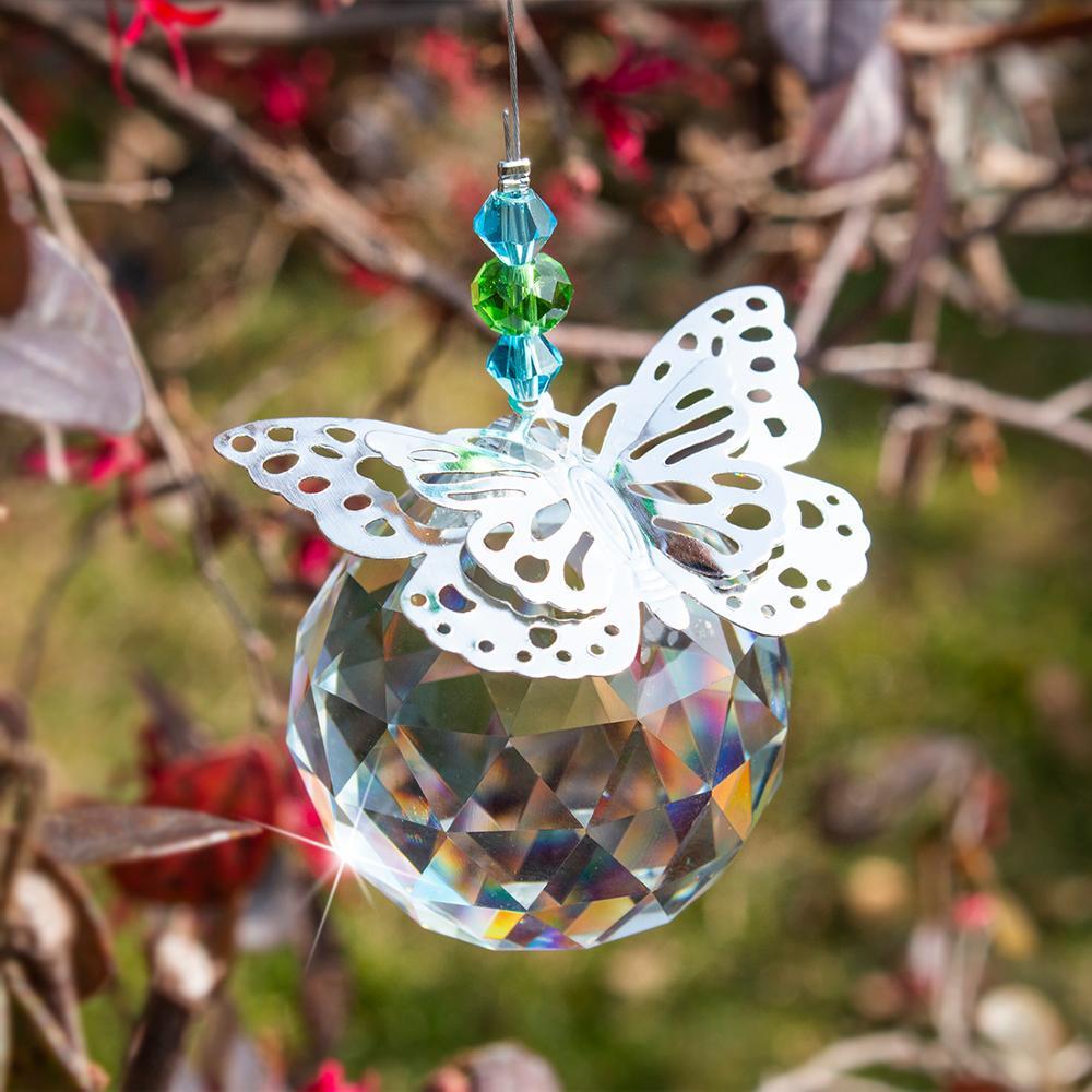 Handmade Rainbow Suncatcher Crystal Window Glass Ball Prisms Hanging Home Decor