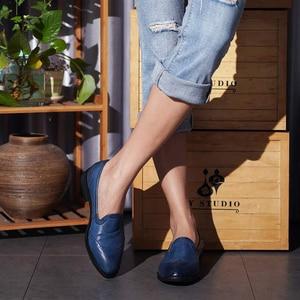 Image 5 - Yinzo Vrouwen Flats Oxford Schoenen Dame Echt Lederen Sneakers Dames Brogues Vintage Casual Schoenen Schoenen Voor Vrouwen Schoenen 2020