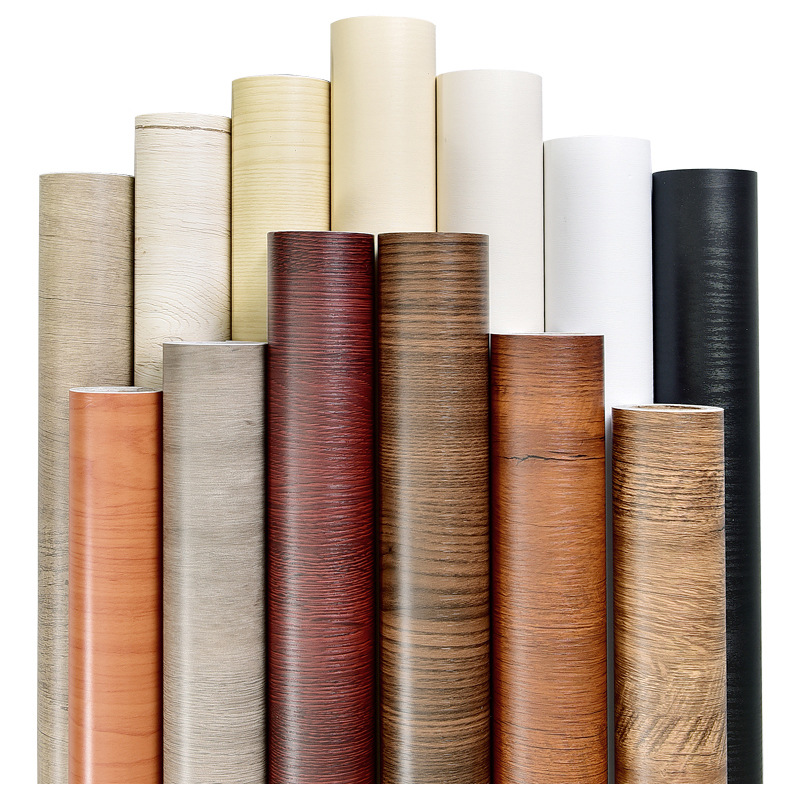 Wallpaper Retro Wood Grain Wallpaper Self-adhesive Bedroom Warm Retro Living Room College Student Dormitory Furniture Waterproof