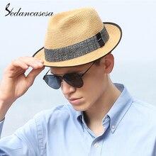 Sedancasesa,, солнцезащитные шляпы для мужчин, кепки, Sombreros, летние козырьки, кепки, анти-УФ, Chapeu, уличная, морская, Пляжная, соломенная мужская шляпа