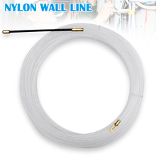 Nylon Wire Cable Electrical Fish Tape Puller Extractor Guide Device for Electrician _WK 30meters 6mm electrician through nylon wire pulling puller white for 3mm cable
