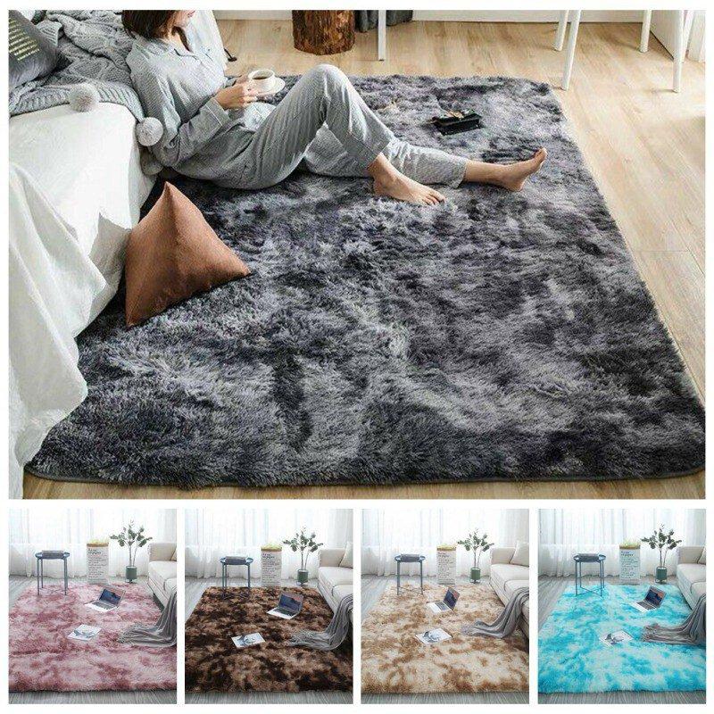 Plush Soft Carpet Faux Fur Area Rug Non-slip Floor Mats Different Sizes For Living Room Bedroom Home Decoration Supplies