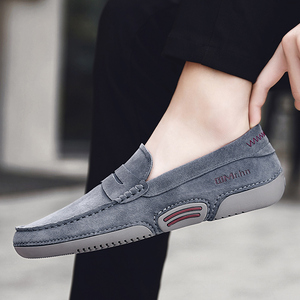 Men Moccasin Loafers slip on Casual Genuine Leather Driving Shoes outdoor Boat Shoes cow suede leather Moccasins For Man