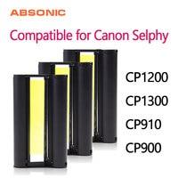 3 pçs canon KP 36IN KP 108IN cor cartucho de tinta fita substituir para canon selphy cp910 cp1300 cp1200 cp900 impressora de fotos sem papel|Fitas de impressora| |  -