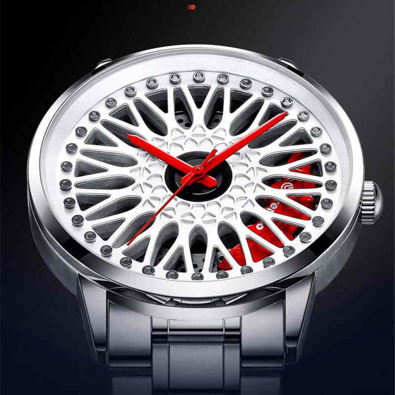 Nibosi relógio de pulso personalizado, novo relógio de pulso para carro, à prova d'água, criativo, hub, relógio de carro, bbs, design personalizado, 2020