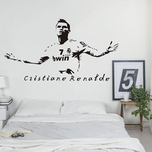 Famous Football Player Wall Sticker Boys Man Lovely Bedroom Decoration Soccer Poster Mural Beauty Fashion Decals W614