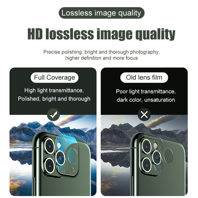 3Pcs Camera Tempered Glass For iphone 11 12 Pro Max X XR XS MAX Mini Lens Screen Protector On iPhone 6 6S 7 8 Plus SE 2020 Glass 5