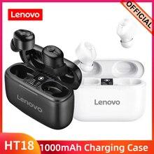 Lenovo HT18 Tai Nghe Không Dây TWS Thật Bluetooth Tai Nghe Nhét Tai Stereo HD Có Mic Tai Nghe Lớn Pin 1000MAH Sạc Hộp