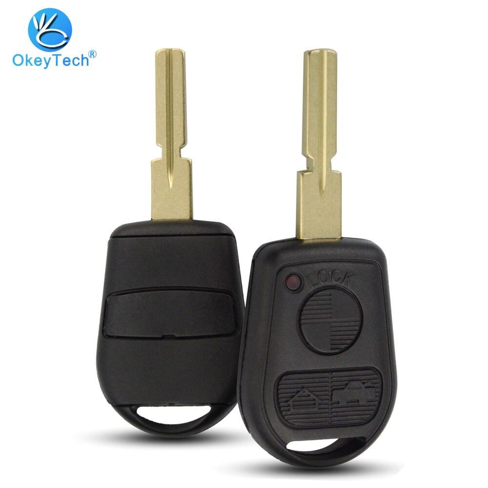 OkeyTech For BMW 3 Button Remote Key Shell Replacement Uncut HU58 Blade Cover Case Fob For BMW E31 E32 E34 E36 E38 E39 E46 Z3