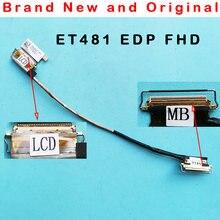 Novo original para lenovo thinkpad t480s et481 lcd não toque fhd lcd edp cabo 01en999 sc10g75229 dc02c00bf00 dc02c00bf10 01yn993