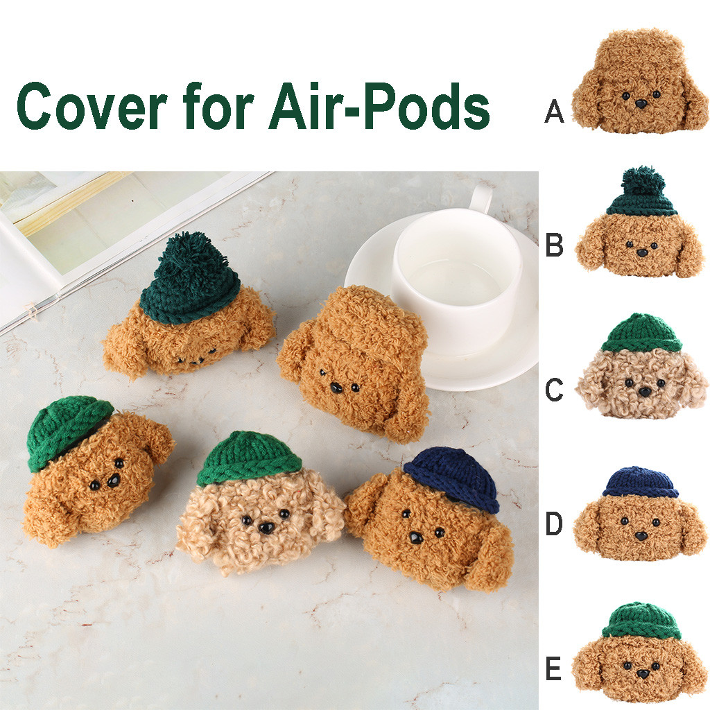 For Air-Pods 1/2 Case Knitted Plush Anti-lost Protective Cover Skin Case For Air-Pods 1/2 Airpods Accessories #A