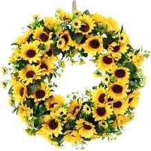 Wiosną nowa najnowsza symulacja słoneczników wakacje wieniec 20 ins ściany odgrywają rolę ozdób drzwi