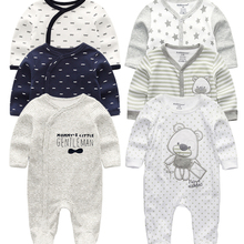 Winter Rompers Costumes Overalls Clothing Long-Sleeve Newborn-Baby Baby-Boys-Girls Infantis