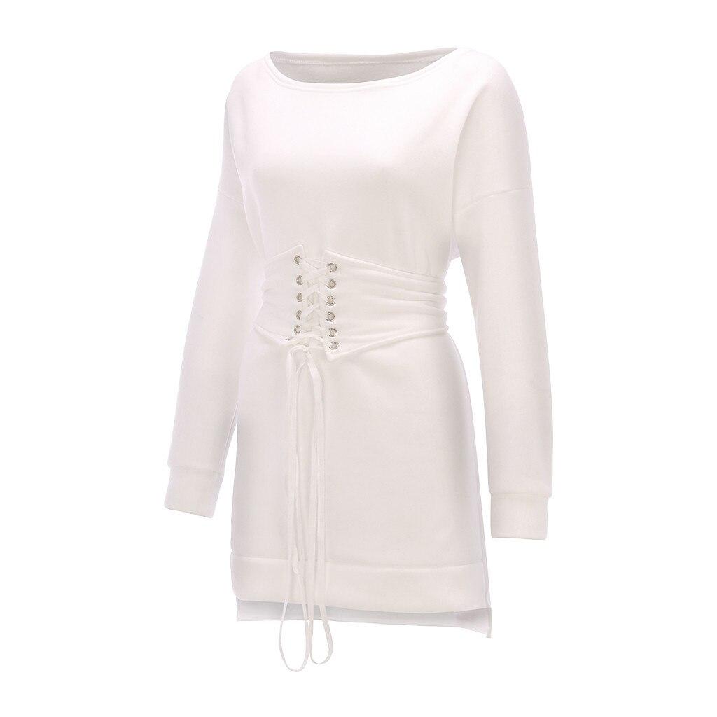 Robe épaisse Hiver femmes col rond à manches longues polaire + ceinture 108