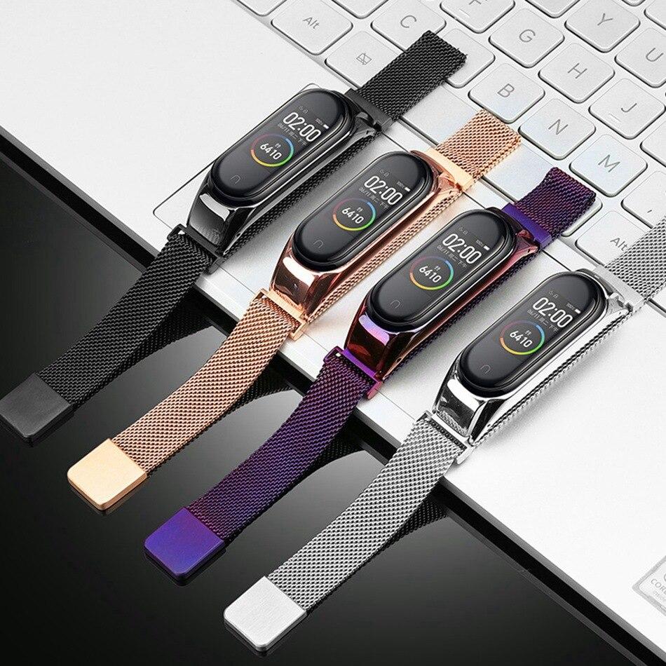 Bracelet Wrist-Strap Mi-Band 3-Wristbands-Belt Metal Stainless-Steel Xiaomi Screwless