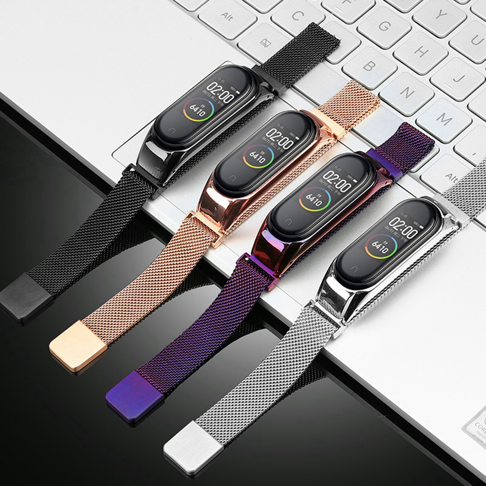 Bracelet mi Band 4 3 sangle en métal sans vis en acier inoxydable Bracelet pour Xiao mi Band 4 3 sangle mi band 4 3 bracelets ceinture