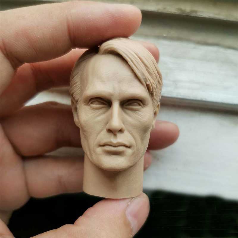 Custom Hannibal Mads Mikkelsen 1//6 Head Sculpt for Narrow Shoulder Body