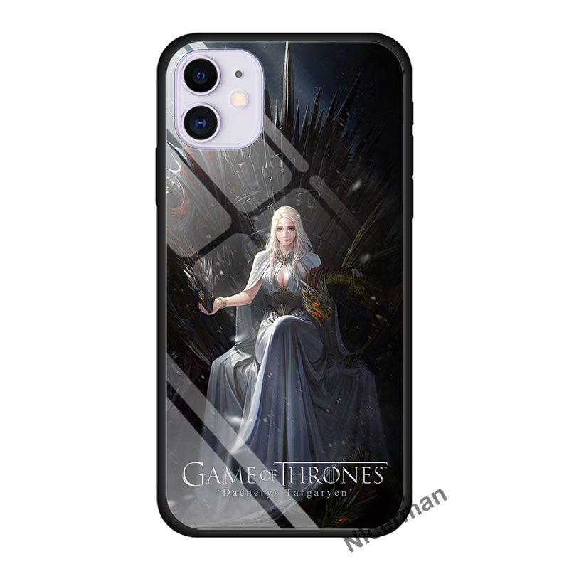 Daenerys Targaryen Mother Dragon Tempered Glass Case For Apple Iphone 11 Pro MAX