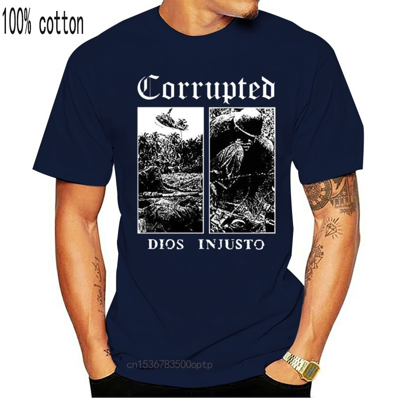 Corrupted V18 Dios Injusto T-shirt Black Sludge/doom Metal All Sizes S-5XL Adults Casual Tee Tshirt