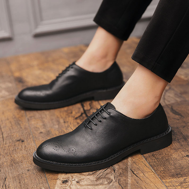 big size 47 Genuine leather men formal shoes soft business Brogue for oxfords wedding party Male