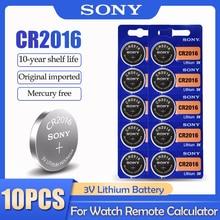 10 шт./лот Sony CR2016 CR 2016 DL2016 LM2016 BR2016 ECR2016 3V литиевая батарея для часов калькулятор пульт дистанционного управления