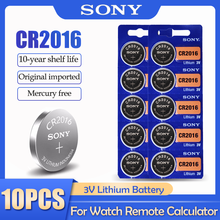 10 pièces/lot Sony CR2016 CR 2016 DL2016 LM2016 BR2016 ECR2016 3V batterie au Lithium pour montre calculatrice télécommande bouton cellule