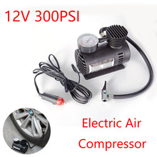 12V 300PSI Car Auto Portable Mini Electric Air Compressor Kit for Ball Bicycle Minicar Tire Inflator Pump Car Access NR-shipping new 12v 300psi car auto portable mini electric air compressor kit for ball bicycle minicar tire inflator pump car accessories
