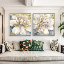 Oil Painting By Handpainted Flower Modern Abstract