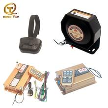 цена на Wireless controller alarm siren horn Auto Megaphone 400W 200W 12V For Car police siren Vehicle Emergency speaker tone Mic system