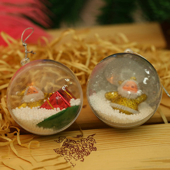 70pcs 7cm Christmas Tree Decorations Transparent Ball Clear Plastic Ball for Wedding Candy Box Favors Gift Bag New Year