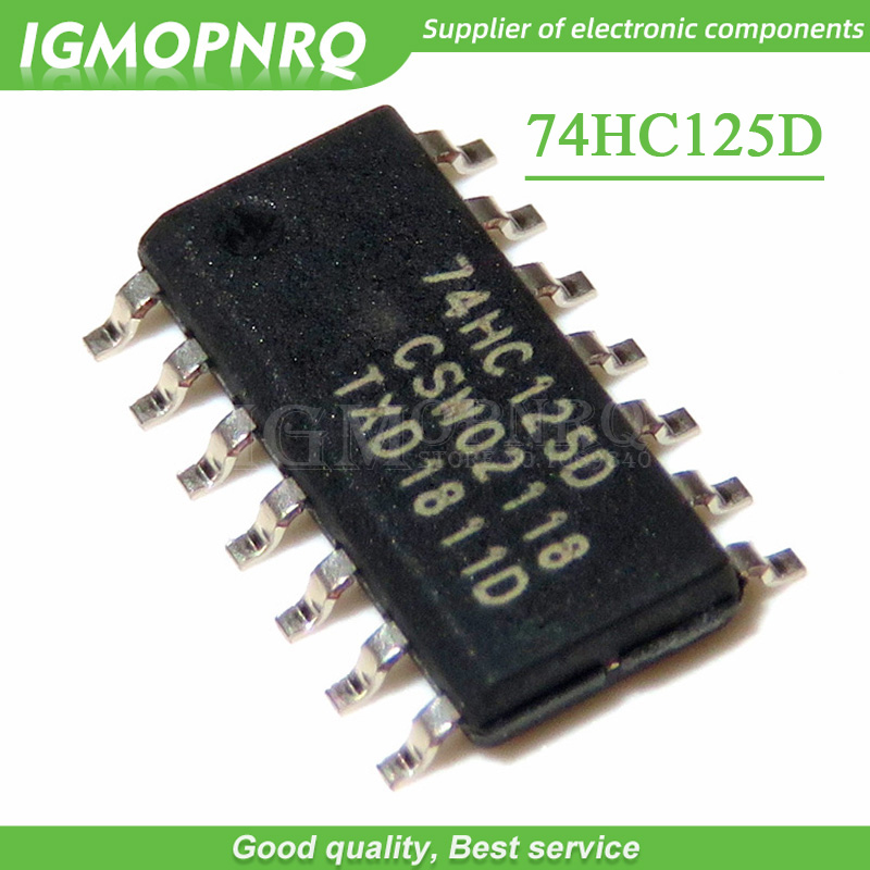 10pcs/lot 74HC125 <font><b>74HC125D</b></font> HC125 SOP-14 integrated circuits New Original image