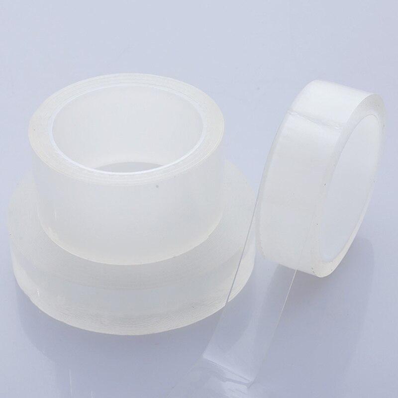 20/30/50 nm * 3/5/10 m fita adesiva do único lado nano transparente nenhuma fita adesiva acrílica da reutilização do traço fita adesiva impermeável