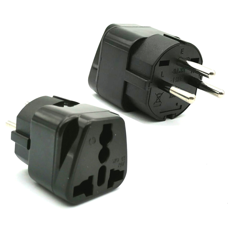Universal CE Kr american european power plug adapter AU EU to US UK USA adapter plug Japan Israel Brazil India travel converter 1