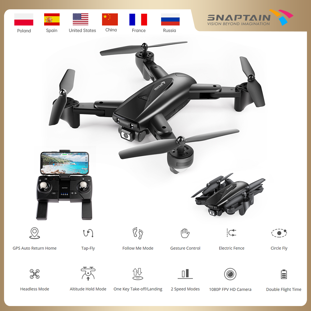 Snapback SP500 Camera Drone drone pieghevole FPV RC Quadcopter con 1080P HD droni 5G WiFi droni