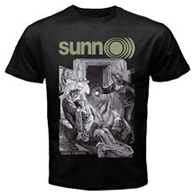 SUNN O))) T SHIRT METAL BAND Ava Size S-3XL NEW BORIS ULVER New Metal Short Sleeve Casual T-Shirt Top Tee Plus