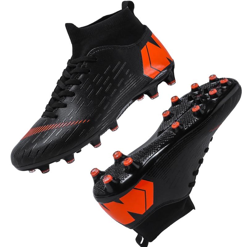 Outdoor Football Boots Men Sneakers Soccer Boots Turf Football Boots Kids Soccer Cleats AG/FG Spikes Training Sport Futsal Shoes 18