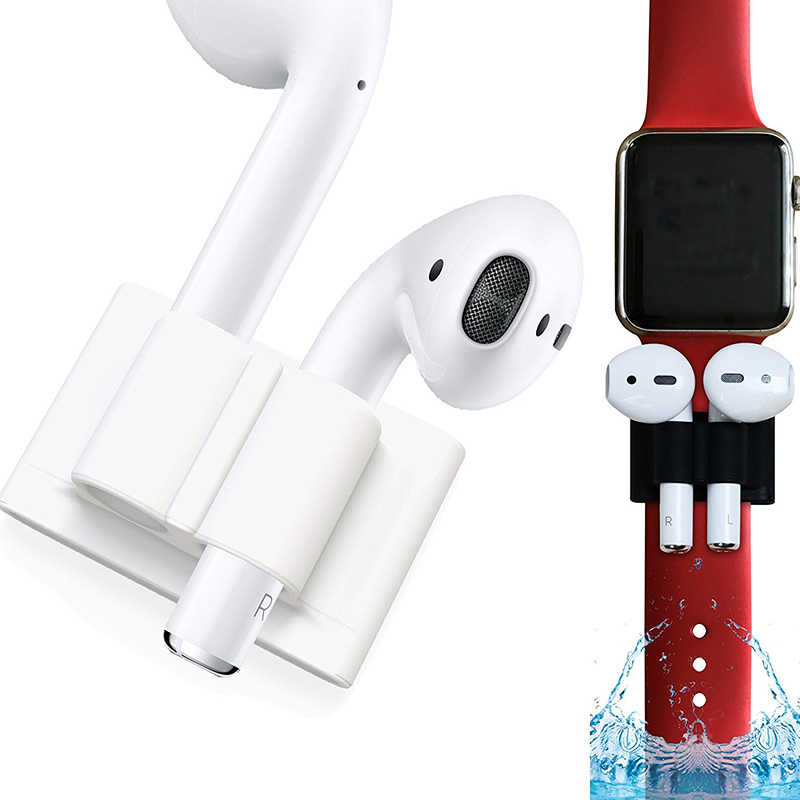 Headset Anti-Slip Silikon Pemegang Portable Outdoor Olahraga Tali Anti Hilang Bluetooth Earphone Tetap Band untuk Airpods