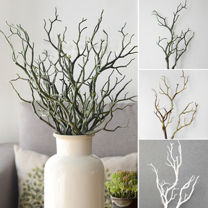 Image 1 - 1pc 35cm Dry Artificial Fake Foliage Plant Tree Branch Wedding Home Church Office Furniture Decoration Peacock Coral Branches